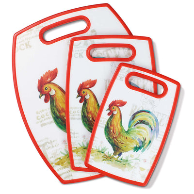 Cuisinart 3-Piece Cutting Board Set - Rooster