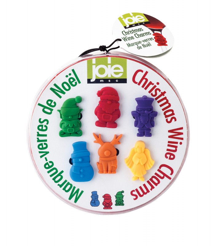 Joie 6-Piece Christmas Wine Charms