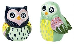 Boston Warehouse Artsy Owls Salt & Pepper Shakers