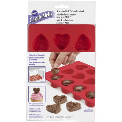 Wilton Silicone Candy Mold - Hearts
