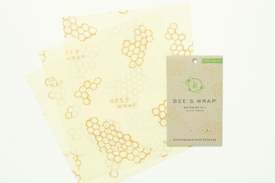 "Bee's Wrap Medium Set of 3 Wraps, 10"" x 11"""