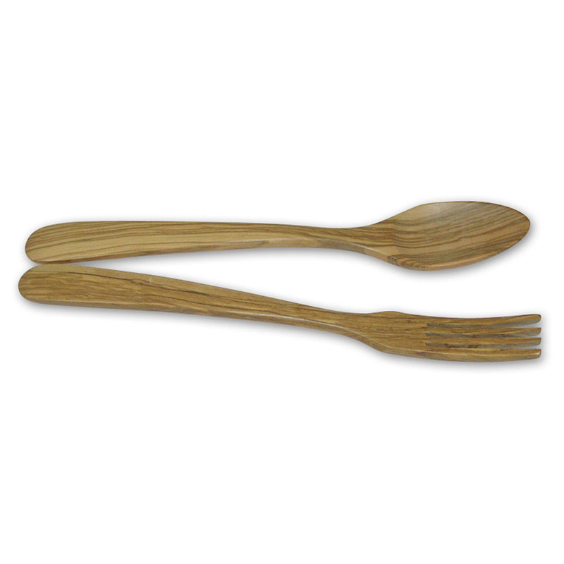 Berard Terra Handcrafted Olivewood 2 Piece Salad Serving Set