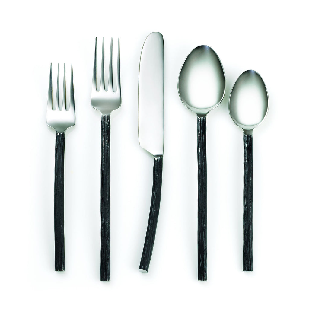 Cambridge Silversmiths Indira Aisha Black 20-Piece Flatware Set