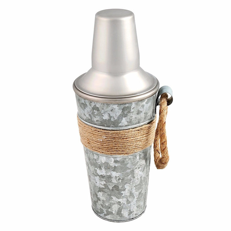 Cambridge Silversmiths Shiloh Galvanized and Rope Shaker, 24 oz