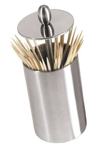 OGGI Stainless Steel Retractable Toothpick Holder