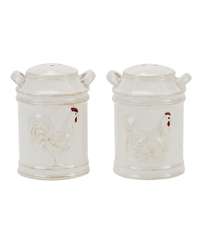 Boston Warehouse Milk Can Salt & Pepper Shakers