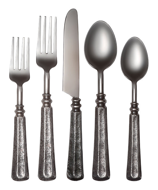 Cambridge Silversmiths Antique Nickel Delilah 20-Piece Flatware Set