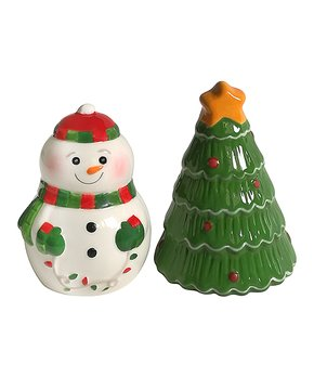 "Boston Warehouse ""Holiday Lite Snowman"" Salt & Pepper Shakers"
