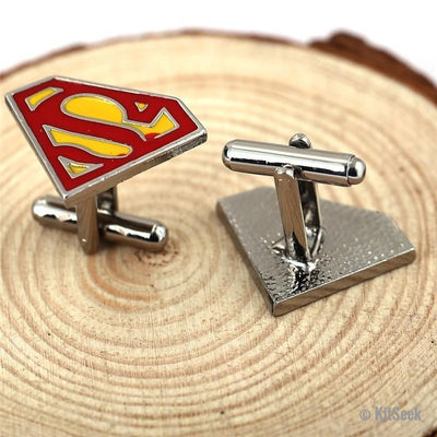Superman Stainless Steel Cufflinks - KitSeek