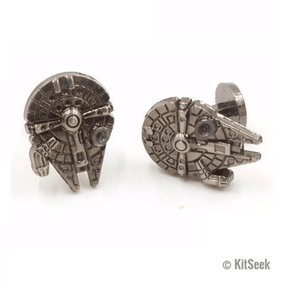 Star Wars Millenium Falcon Vintage Fighter Warship Cufflinks - KitSeek