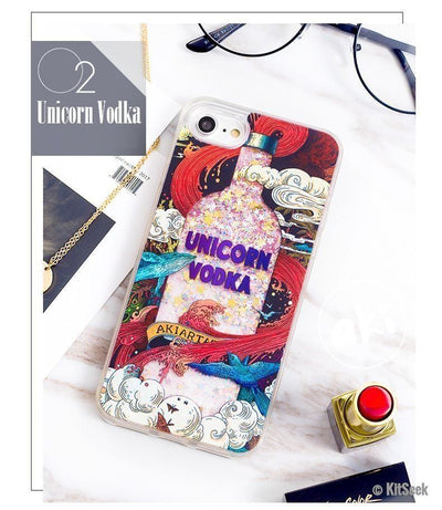 Adorable Liquid Unicorn Vodka iPhone Cases - KitSeek