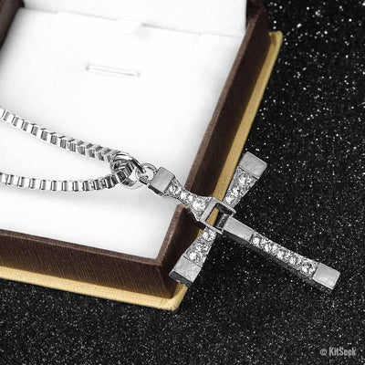 Dominic Toretto Cross Necklace | Fast And Furious Pendant - KitSeek