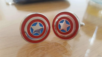 Captain America's Shield Cufflinks - KitSeek