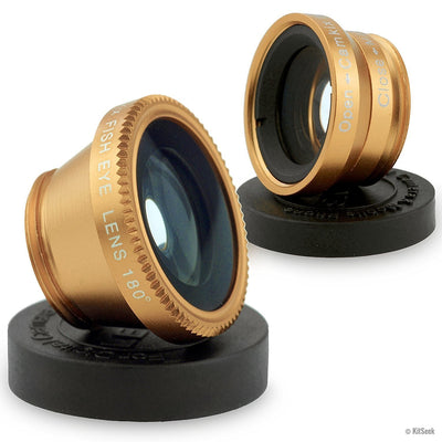 Smartphone Camera Lens Attachment. Contains Fish Eye, Wide Angle & Macro Lenses