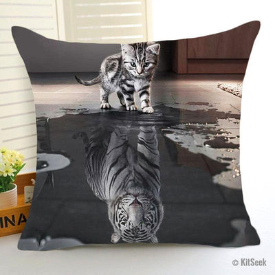 Cute Cat to White Tiger Cushions