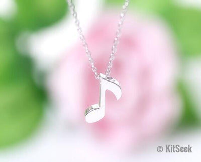 Musical Note Pendant Necklace for Women | Quaver Necklace (Eighth Note) - KitSeek