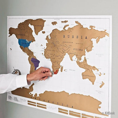 Scratch-Off World Map Poster for Travellers - KitSeek