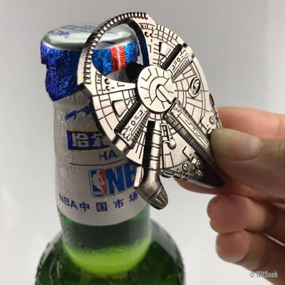 Star Wars Millennium Falcon Aluminum Alloy Bottle Opener - KitSeek