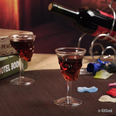 Skull Wine Glasses - KitSeek