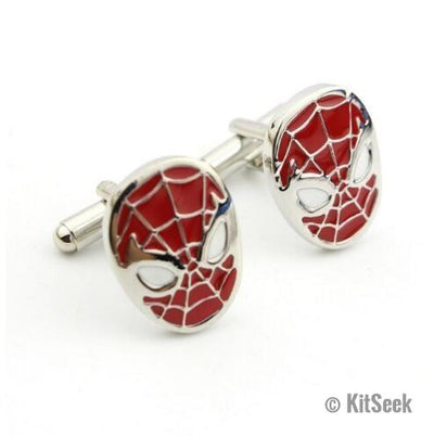 Spiderman Design Stainless Steel Cufflinks - KitSeek