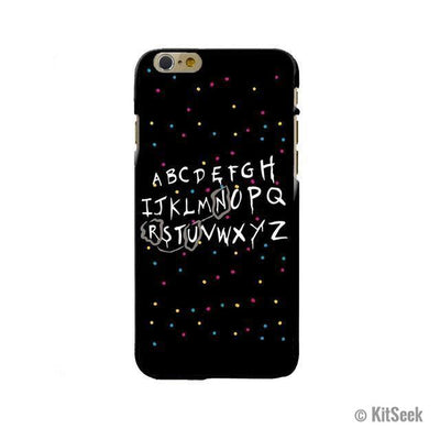 Alphabet Silicone Phone Case From Stranger Things