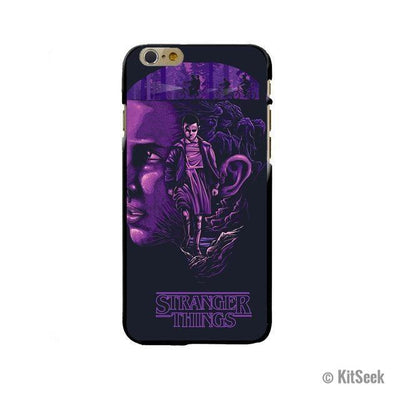 Purple Based Silicone Phone Case From Stranger Things