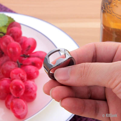 Stainless Steel Bottle Opener Ring - KitSeek