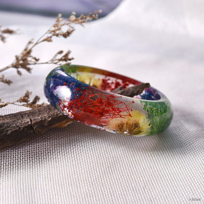 Glass Floral Bracelet Of Spring - KitSeek