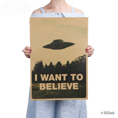 Classic X Files 'I Want To Believe' Poster - KitSeek