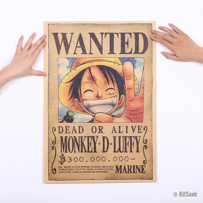Vintage Mankey-D-Luffy (Straw Hat) Anime 'One Piece' Poster - KitSeek