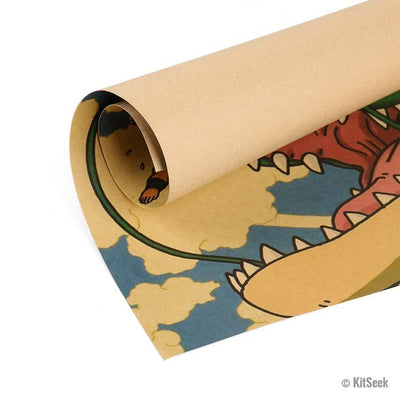 Dragon Ball Z Kraft Paper Poster - KitSeek