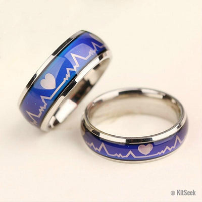 Heartbeat Temperature Changing Mood Ring - KitSeek
