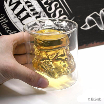 Star Wars Stormtrooper Glass Cup - KitSeek