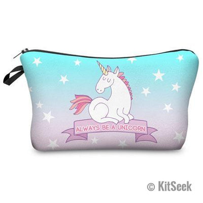 3D Printed Unicorn Travel Makeup Bag - KitSeek