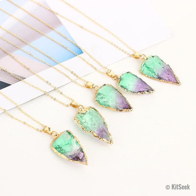 Rainbow Crystal Necklace For Women - KitSeek