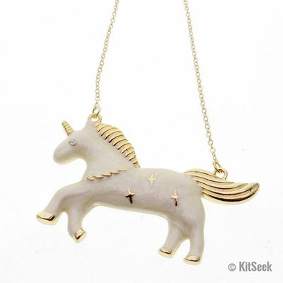 Fashionable Unicorn Necklace - KitSeek