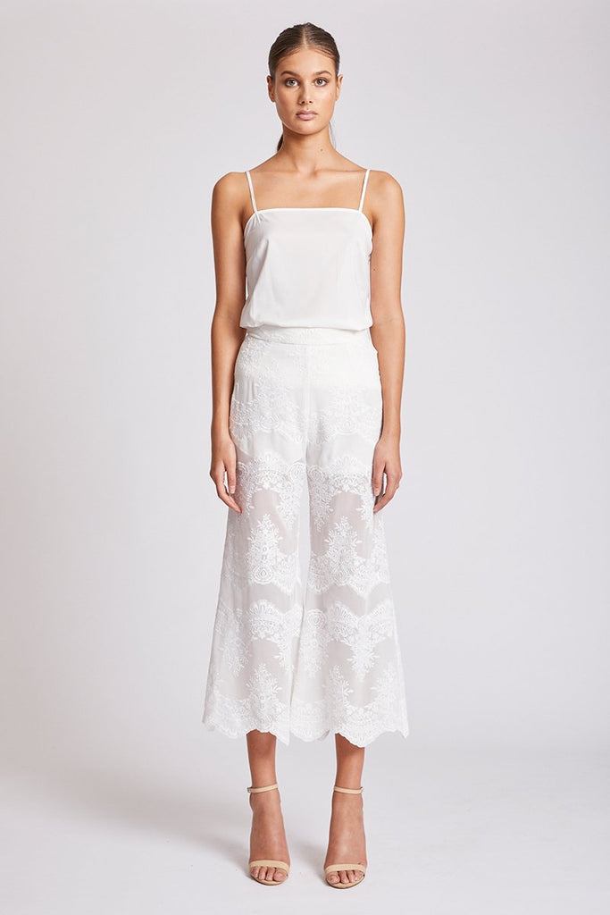 ANTIGUA RELAXED CROPPED FLARE - IVORY