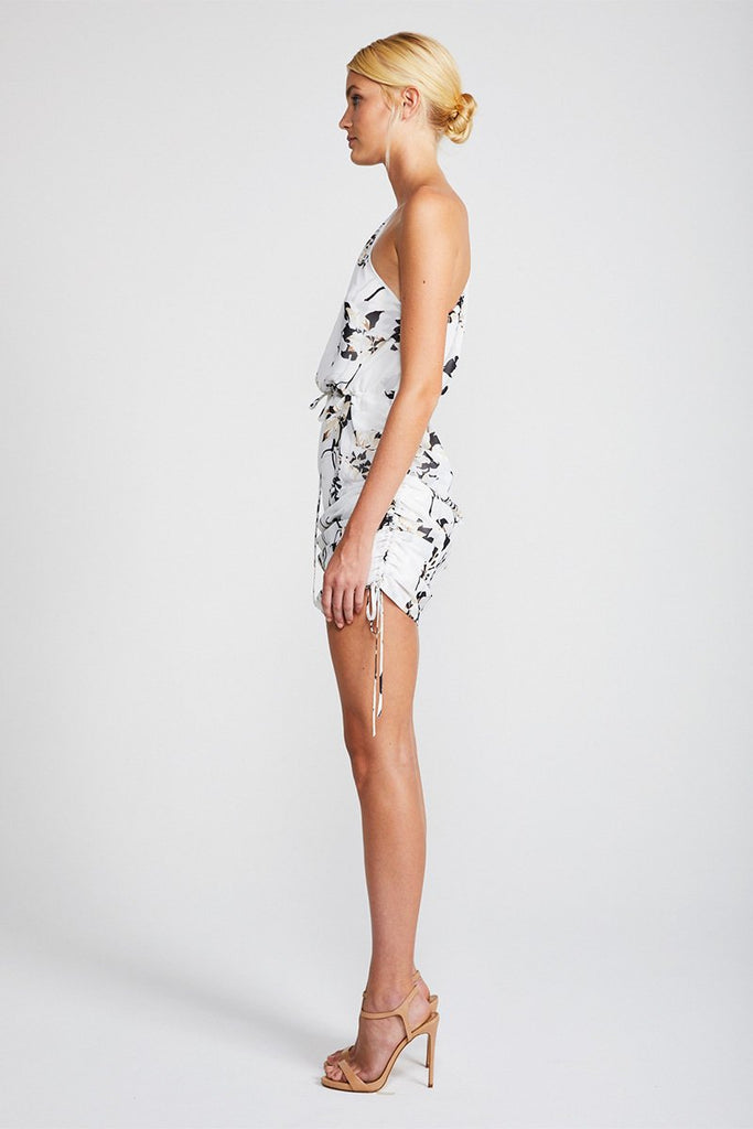 APPARITION ONE SHOULDER MINI DRESS