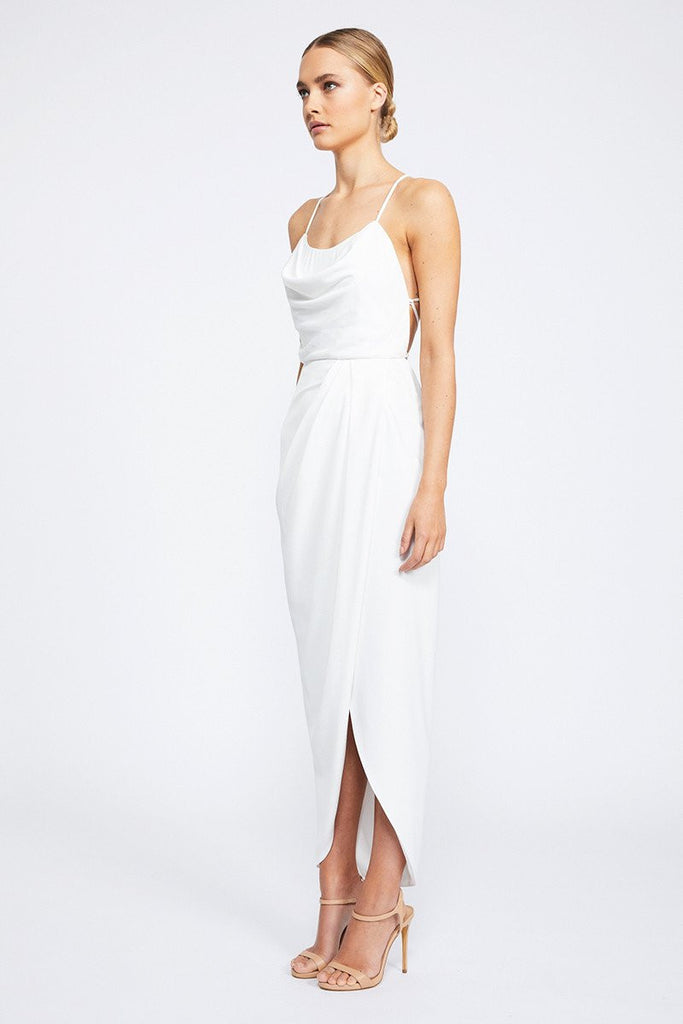 CORE LACE UP COWL MAXI - IVORY