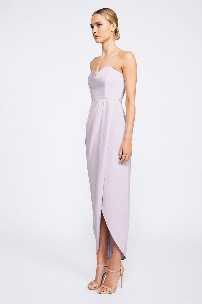 CORE 'U' BUSTIER DRAPED DRESS - LILAC