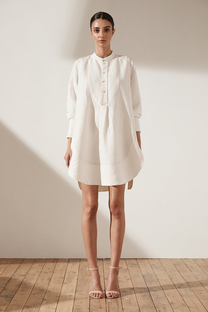 ARIA SHIRT DRESS - CREAM