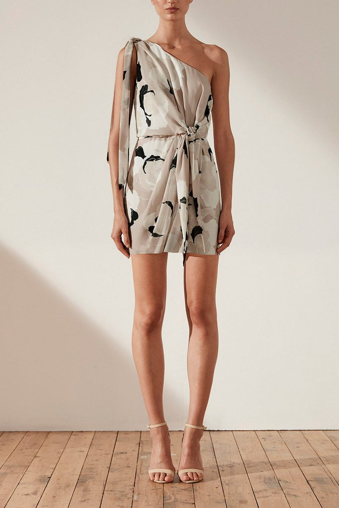 FLORA ONE SHOULDER MINI DRESS