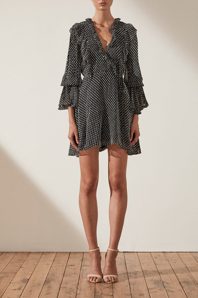 SALINGER RUFFLE MINI DRESS