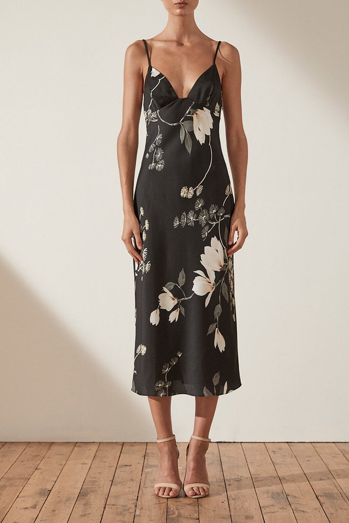 RYLANT BIAS SLIP MIDI DRESS