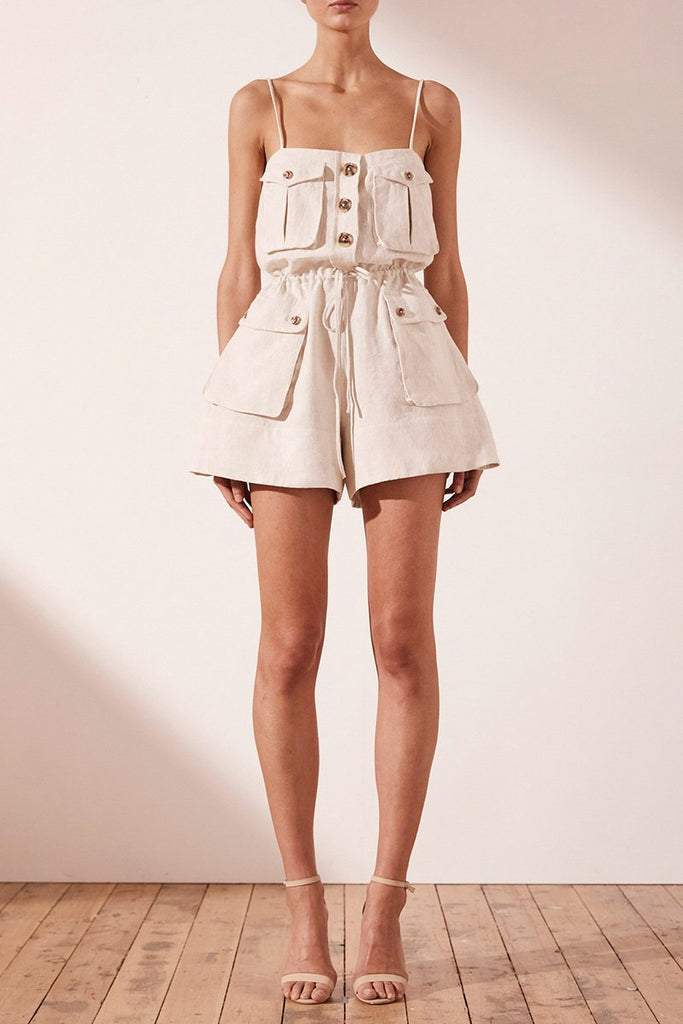 ALUARO SAFARI PLAYSUIT