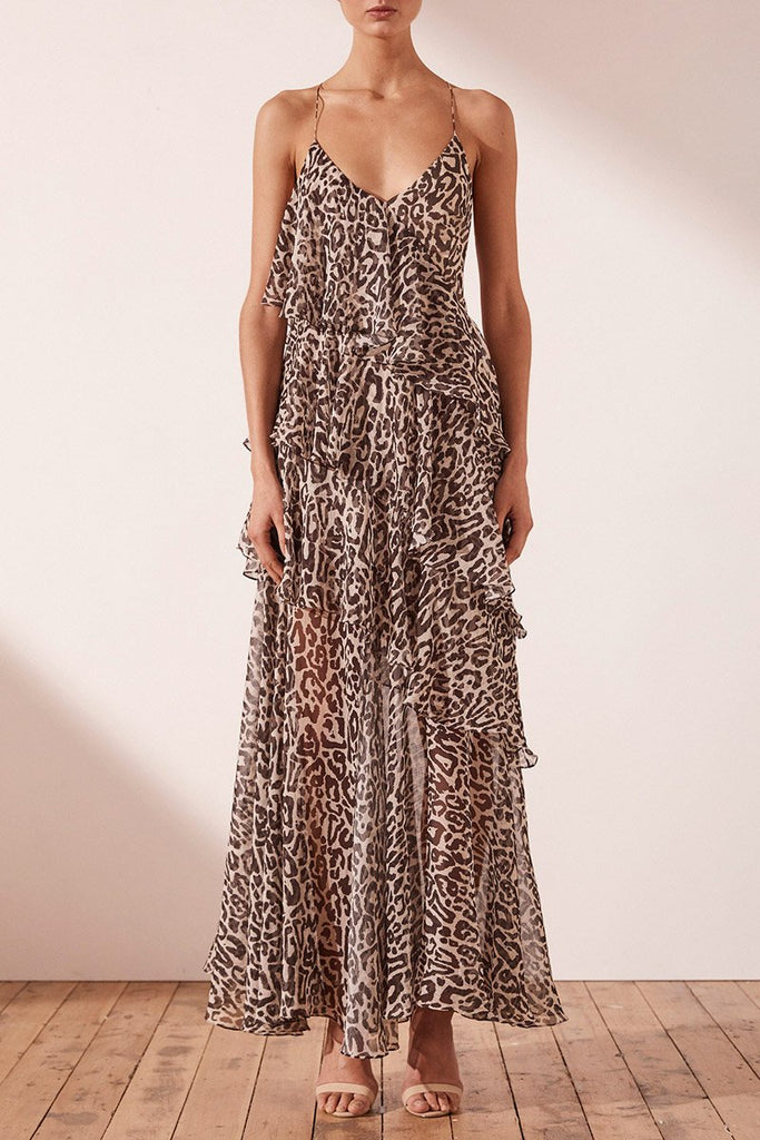 MARIPOSA CROSS BACK MAXI DRESS