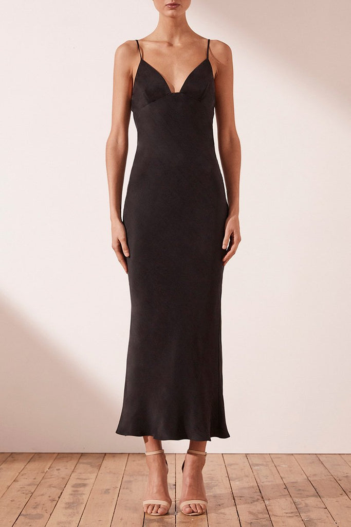 MATIAS BIAS SLIP MIDI DRESS