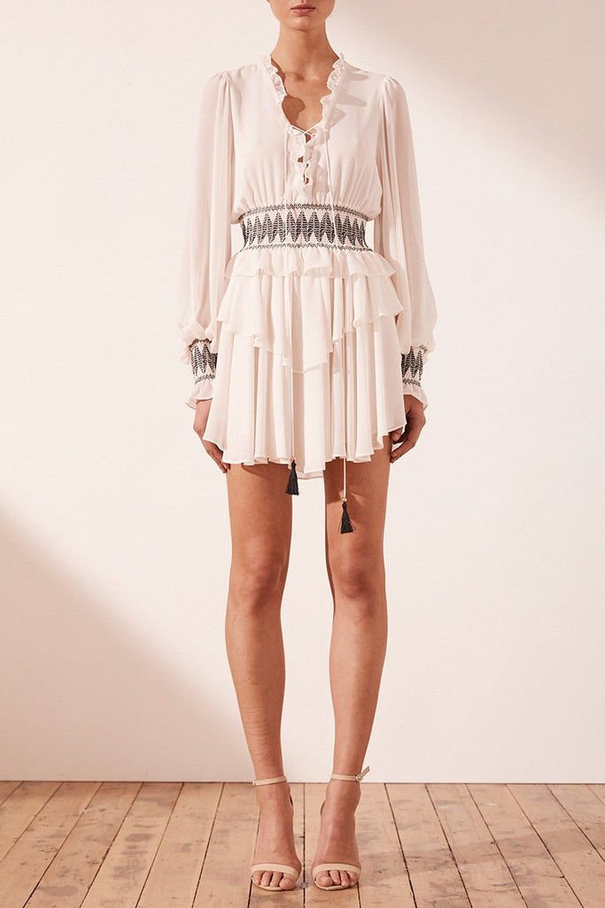 SALCEDO TIERED MINI DRESS