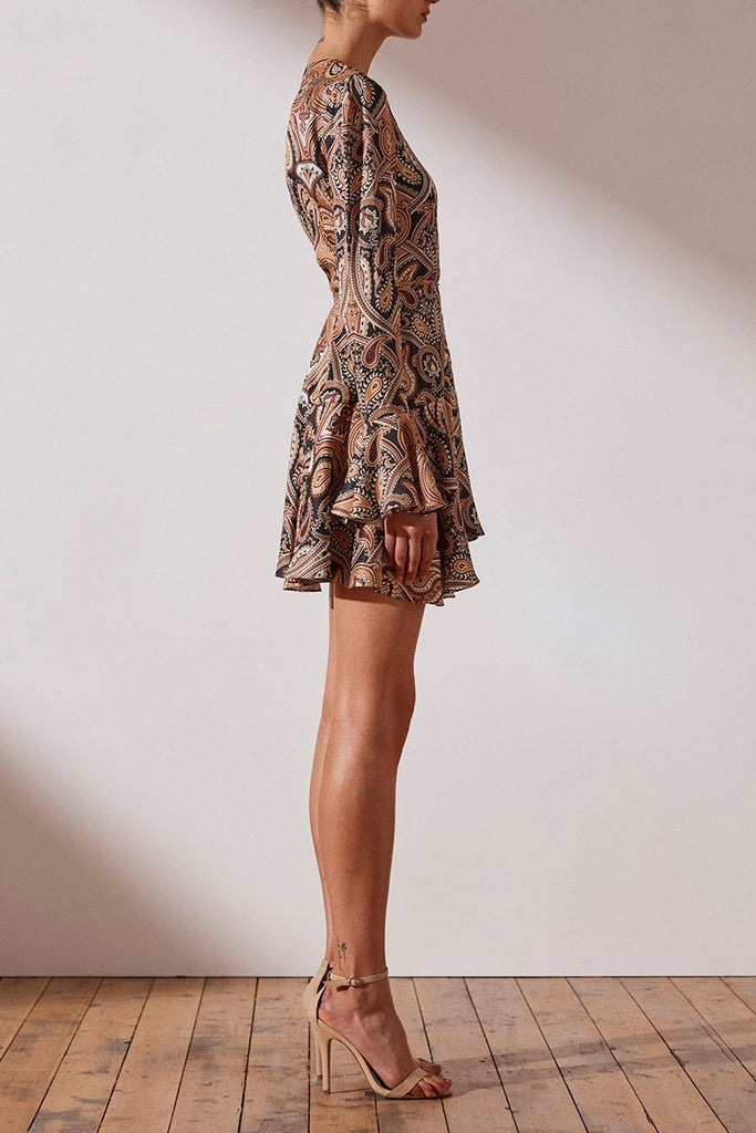 HENDRIX WRAP MINI DRESS