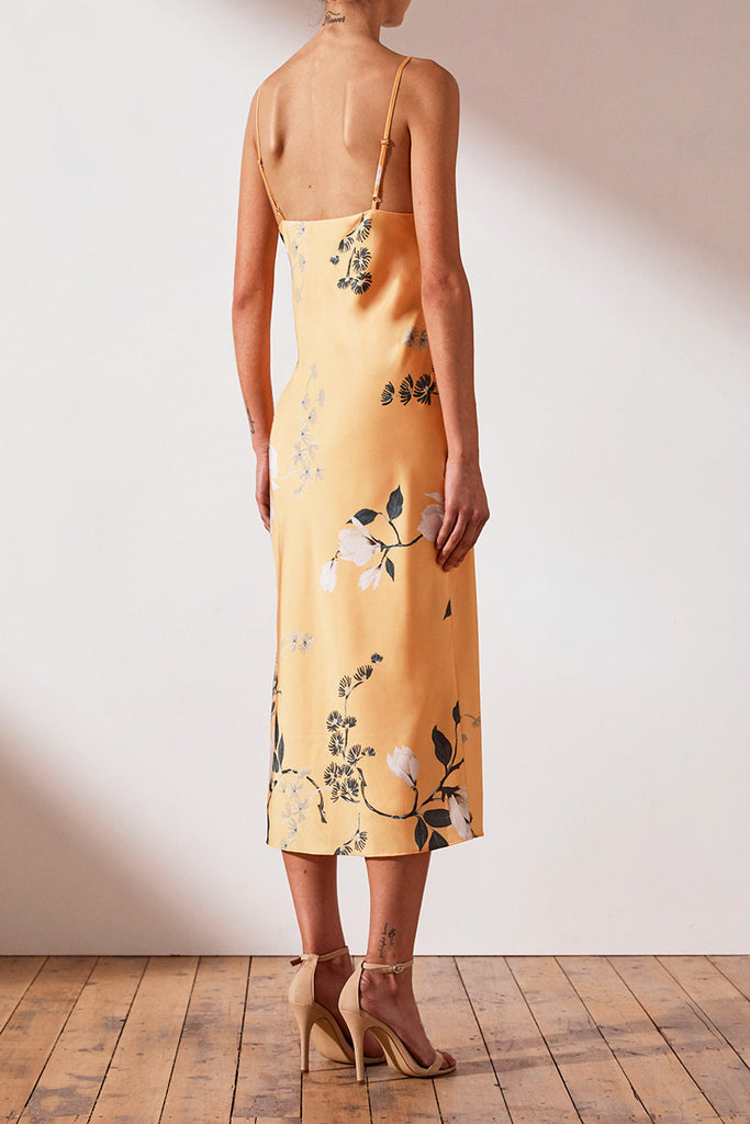 RYLANT BIAS SLIP MIDI DRESS - MANGO